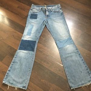 7 For All Man Kind patched jeans